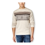 Tricots St Raphael Mens Snowflake Intarsia Pullover Sweater