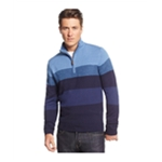 Tricots St Raphael Mens Colorblock 1/4 Zip Pullover Sweater