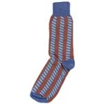 Bloomingdale's Mens Arrow Wave Midweight Socks