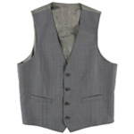 Calvin Klein Mens Windowpane Four Button Vest
