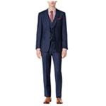 Calvin Klein Mens Tonal Windowpane Two Button Suit