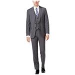 Calvin Klein Mens Plaid Windowpane Two Button Formal Suit