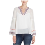 Catherine Malandrino Womens Embroidered Peasant Blouse