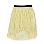 Sugar Lips Womens Pleated High-Low Skirt