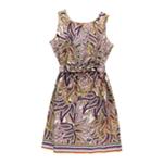 Elementz Womens Paisley Belted Tank Dress