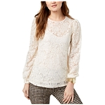 Michael Kors Womens Lace Waist Pullover Blouse