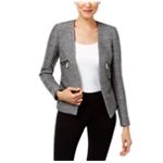 Michael Kors Womens Open-Front Moto Blazer Jacket