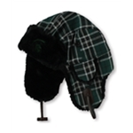 Top of the World Mens Michigan State Plaid Trapper Hat