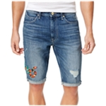 Sean John Mens Edge Snake Casual Denim Shorts