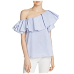 MLM Label Womens Ruffle One Shoulder Blouse