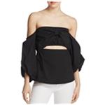 MLM Label Womens Pillar Cutout Off the Shoulder Blouse