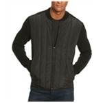 Kenneth Cole Mens Textured Quilted Varsity Jacket