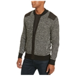 Kenneth Cole Mens Marled Knit Bomber Jacket