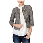 Michael Kors Womens Frayed Blazer Jacket