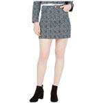 T.D.C Womens Printed Corduroy Mini Skirt