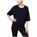 DKNY Womens Mixed Media Basic T-Shirt