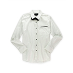 No Retreat Mens Taylor W Bow Tie Button Up Shirt