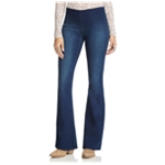 Free People Womens Pull On Flared Jeans