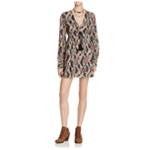 Free People Womens Stealing Fire Printed Empire Dress