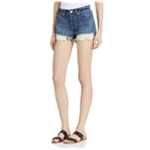 Free People Womens Daisy Chain Lace Casual Denim Shorts