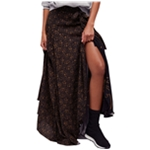 Free People Womens Mona Lisa Mixed-Print Maxi Skirt