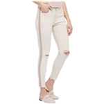 Free People Womens Glittery Skinny Fit Jeans