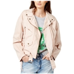 Free People Womens Lace-Up Moto Motorcycle Jacket