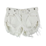 Free People Womens Solid Casual Denim Shorts