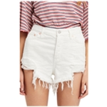 Free People Womens Loving Good Vibrations Casual Denim Shorts