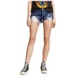 Free People Womens Loving Good Vibrations Casual Denim Shorts