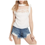 Free People Womens Simply Smiles Halter Blouse