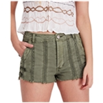 Free People Womens Lace Trim Casual Denim Shorts