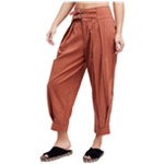 Free People Womens Double-Buckle Casual Trouser Pants