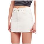 Free People Womens Denim Mini Skirt
