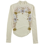 Free People Womens Disco Rose Embellished T-Shirt