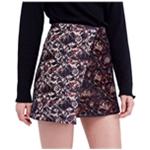 Free People Womens Knit Jacquard Mini Skirt