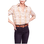 Free People Womens Magical Plaid Button Up Shirt