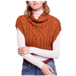 Free People Womens Frosted Crop Top Sweater Vest