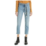 Free People Womens Solid Regular Fit Jeans