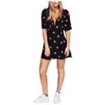 Free People Womens Mockingbird Mesh Inset Mini Dress