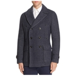 Hardy Amies Mens Textured Pea Coat
