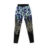 Petticoat Alley Womens Printed Stretch Athletic Track Pants