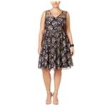 American Rag Womens Floral A-line Dress