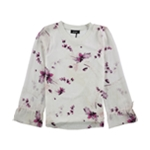 DKNY Womens Tie Sleeve Pullover Blouse