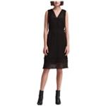 DKNY Womens Pleated Midi Dress