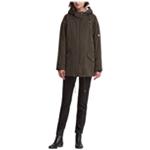 DKNY Womens Hooded Parka Coat