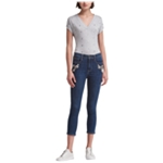DKNY Womens Embellished Skinny Fit Jeans