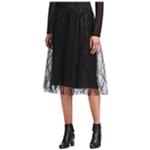DKNY Womens Sequin A-line Skirt