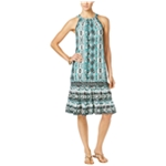 My Collection Womens Tiered Midi Dress