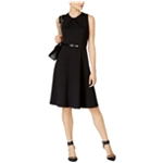NY Collection Womens Sleeveless Fit & Flare Dress